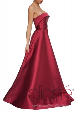 Official long dress in bordeaux