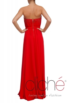 Official long red dress