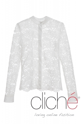 Lace shirt in white