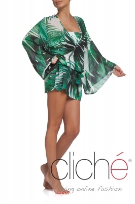 "Beach kaftan ""Palm leaves"""