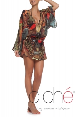 "Beach kaftan ""Butterflies"""