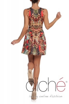 """Butterflies"" flared dress"