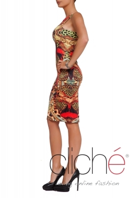 """Butterflies"" slim-fit dress"
