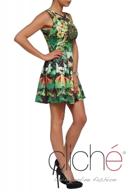 """Tropicana"" flared dress"