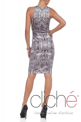 """Marble"" slim-fit dress"