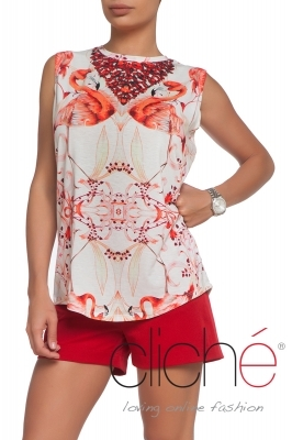 """Flamingo"" top"