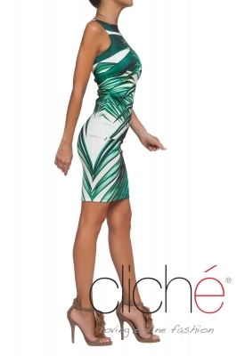 "Slim-fit dress ""Palm Leaves"""