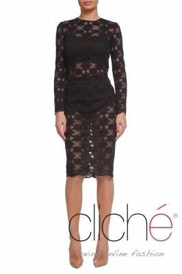 Lace dress in black