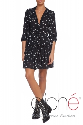 Chiffon dress with stars