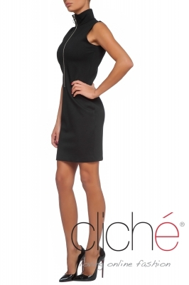 Turtleneck dress with zipp