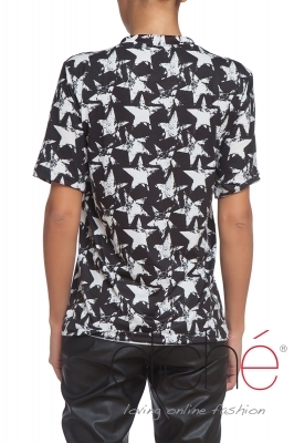 T-shirt with ties and stars pattern