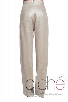 Official flax trousers