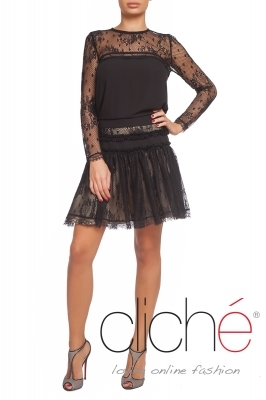 Short lace skirt