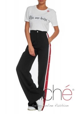 Sport pants with edges and caps