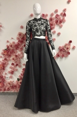 Maxi prom skirt in bordeaux