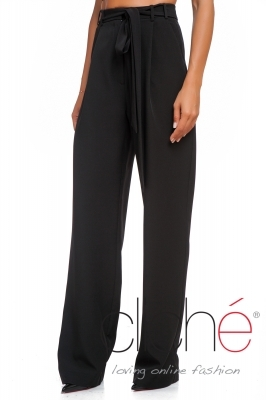 Wide leg high waist trousers