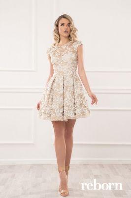 d05063a8a9e Къса бална рокля с декорация
