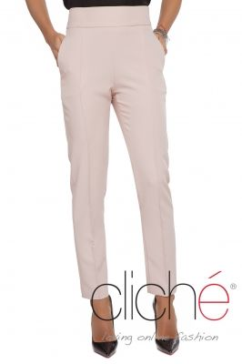 Cigarette trousers in blush pink