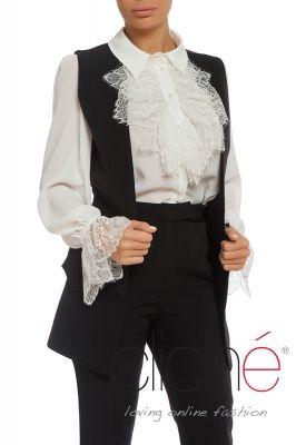Tailored waistcoat in black
