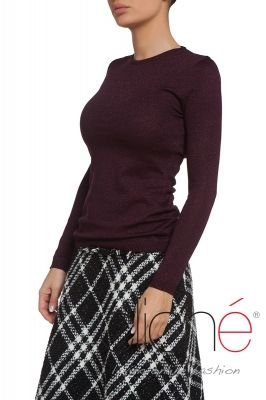 Burgundy long sleeve knitted sweater