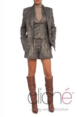 Tweed oversized blazer