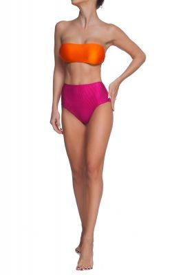 Color Block retro bottoms bikini set