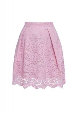Pleated lace skirt in Pink