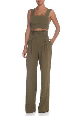 Crop top in khaki