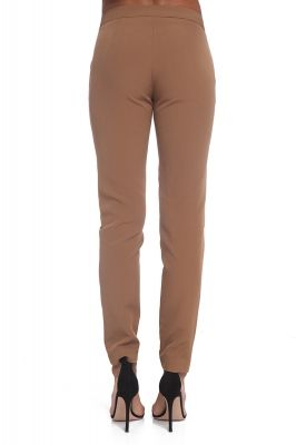 Brown straight leg trousers