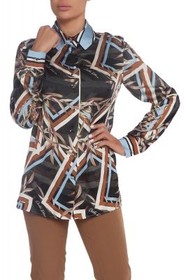 Satin shirt Geometric Fall