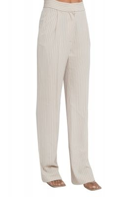 Light beige pants with stripes