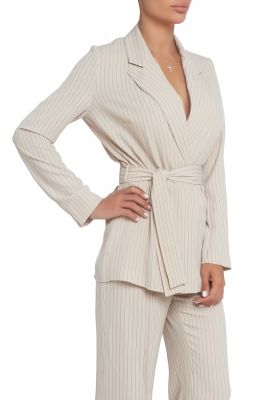 Light beige blazer with stripes