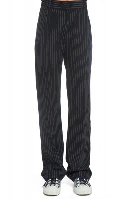 Black pants with stripes