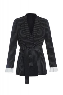 Black blazer with stripes