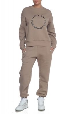 Tracksuit Bride side in beige