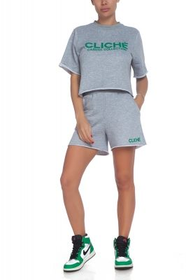 Ladies sports t-shirt in grey