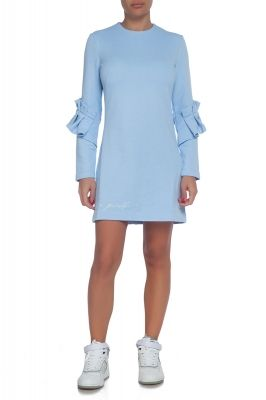 Casual long sleeve dress in blue