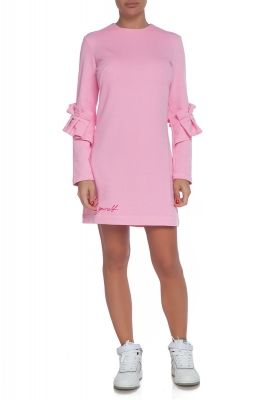 Casual long sleeve dress in pink